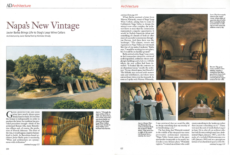 ARCHITECTURAL DIGEST - NAPA VALLEY