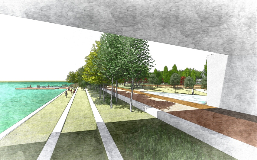 WATERFRONT PARK COMPETITION EBRO RIVER